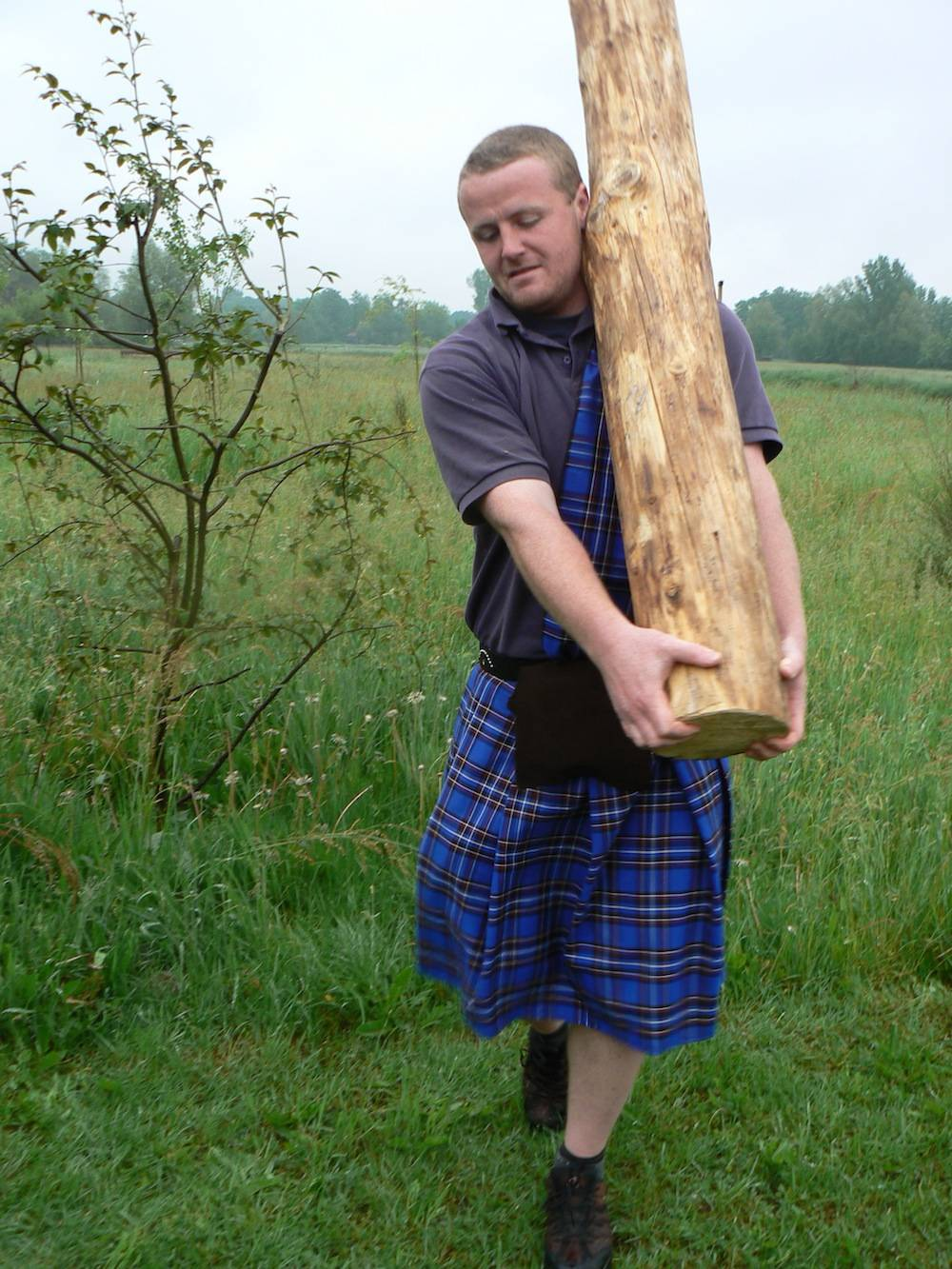 Highland Games Baumstammwerfen
